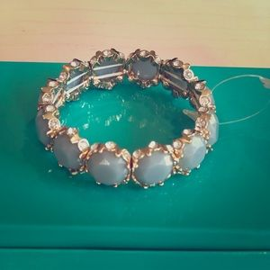 Francesca's blue enamel stretch bracelet